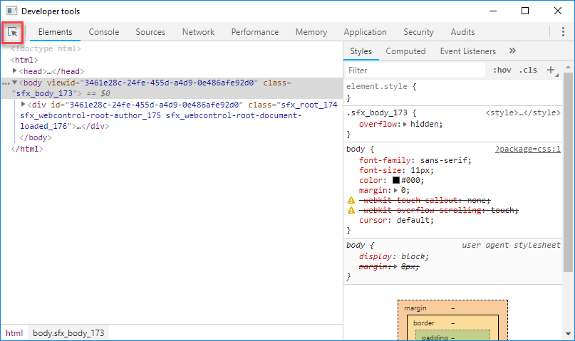 Inspect HTML to Find Spotfire CSS Classes » The Analytics Corner